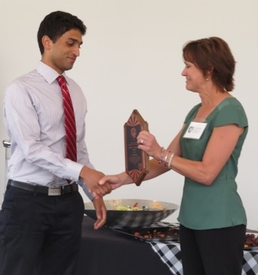Sevith Rao Accepting Rice University's Hermance Award