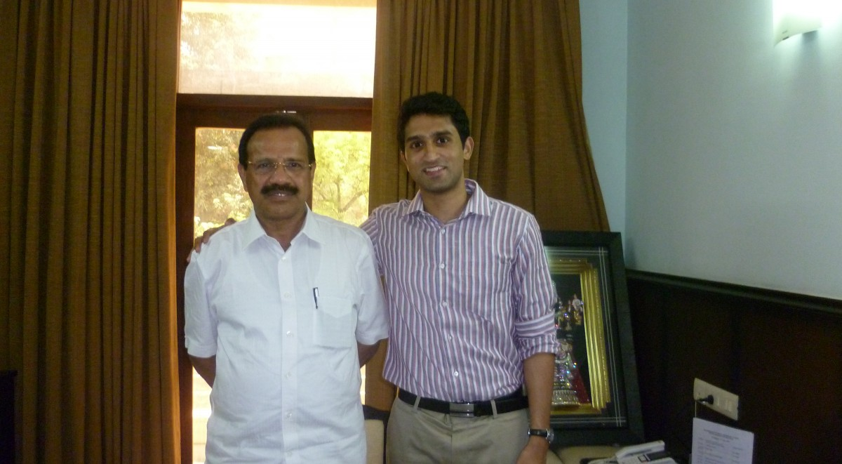 Central Railway Minister Sadananda Gowda meeting with IHA CEO Sevith Rao